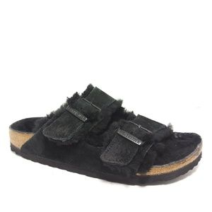 Birkenstock Arizona Black Suede Sandals Sz5/ EU 36